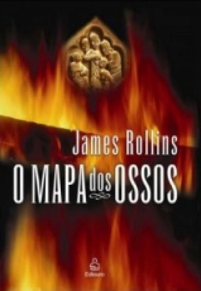 Capa de O mapa dos ossos - James Rollins