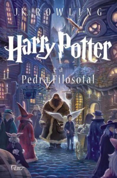 Capa de Harry Potter e a pedra filosofal - J. K. Rowling