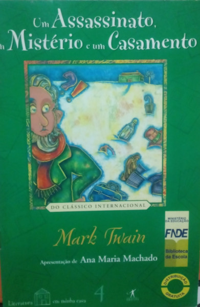 Capa de Um assassinato, um mistério e um casamento - Mark Twain