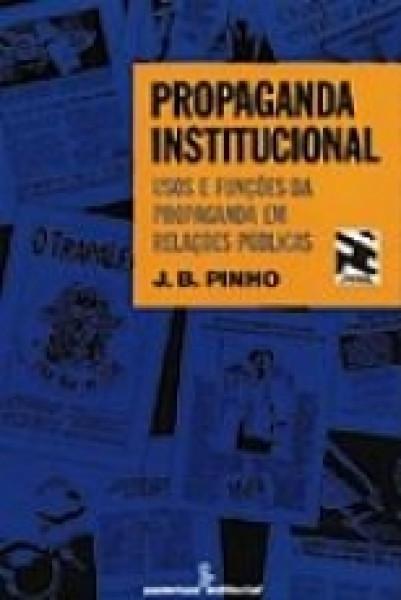Capa de Propaganda institucional - J. B. Pinho