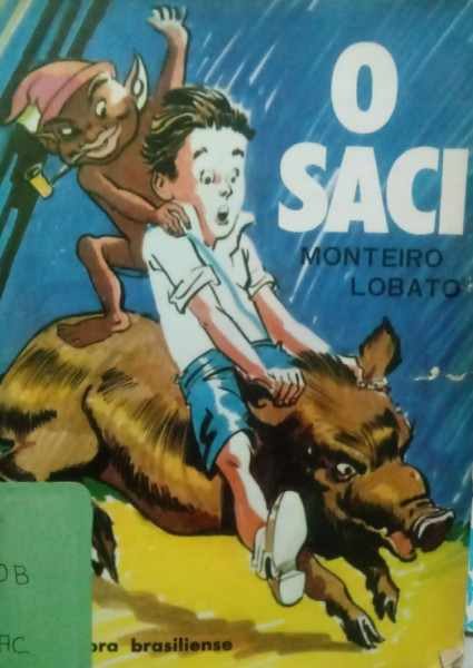 Capa de O saci - Monteiro Lobato