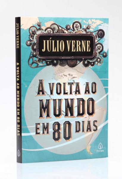 Capa de A volta ao mundo em 80 dias - Júlio Verne
