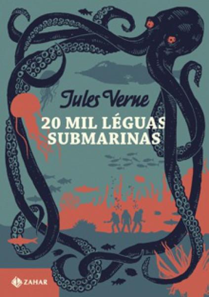 Capa de Vinte mil léguas submarinas - Julio Verne