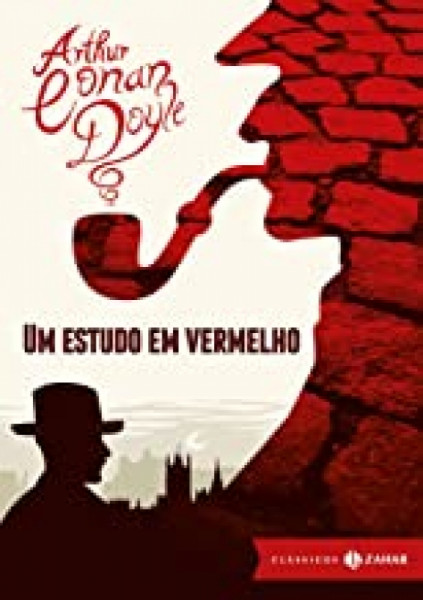 Capa de Um estudo em vermelho - Arthur Conan Doyle