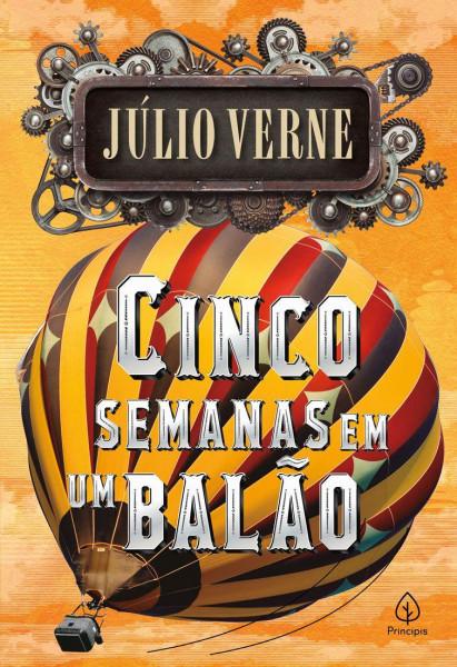 Capa de Cinco semanas em um balão - Julio Verne