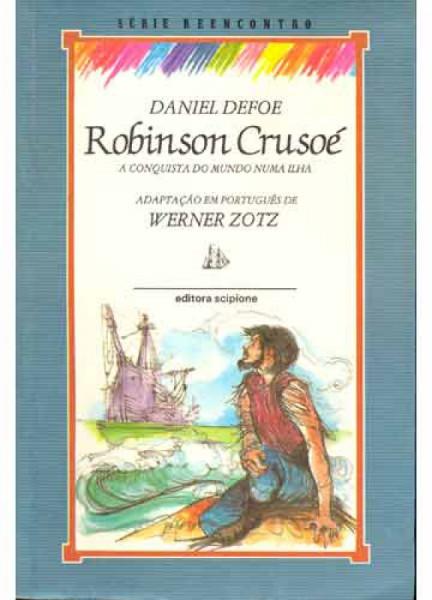 Capa de Robinson Crusoé - Daniel Defoe