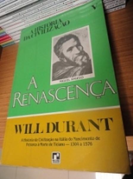 Capa de A Renascença - Will Durant