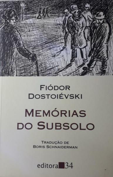 Capa de Memórias do subsolo - Fiódor Dostoiévski