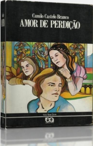 Capa de Amor de perdição - Camilo Botelho Castelo Branco