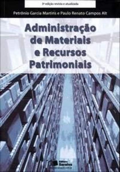 Capa de Administração de materiais e recuros patrimoniais - Petrônio Garcia Martins; Paulo Renato Campos Alt