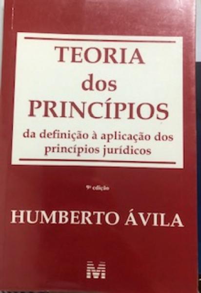 Capa de Teoria dos princípios - Humberto Ávila