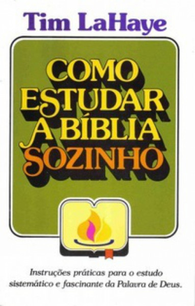 Capa de COMO ESTUDAR A BÍBLIA SOZINHO - Tim LaHaye