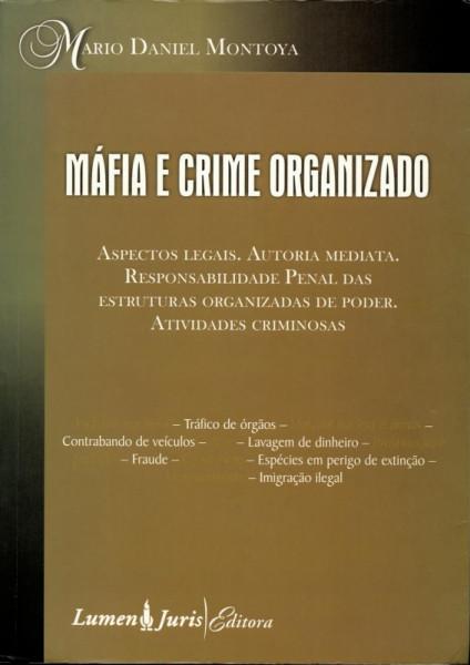 Capa de Máfia e Crime Organizado - Mario Daniel Montoya