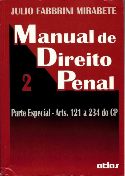 Capa de Manual de direito penal volume 2 - Julio Fabbrini Mirabete