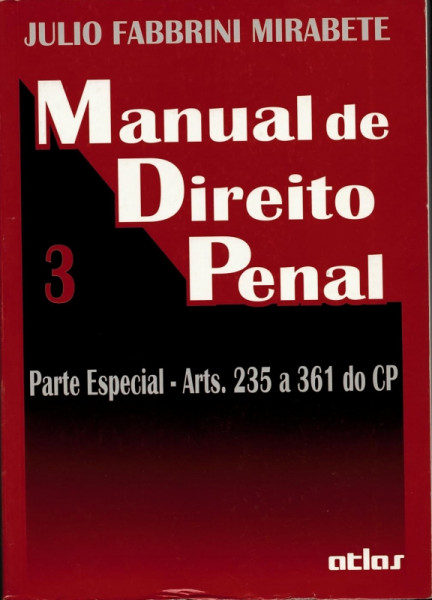 Capa de Manual de direito penal volume 3 - Julio Fabbrini Mirabete