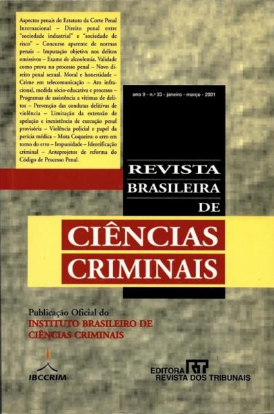 Capa de Revista Brasileira de Ciências Criminais - n° 33 - Diversos