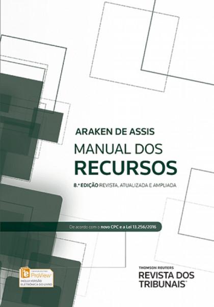 Capa de Manual dos recursos - Araken de Assis