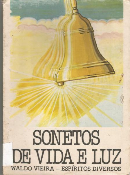 Capa de Sonetos de vida e luz - WALDO VIEIRA- ESPÍRITOS DIVERSOS