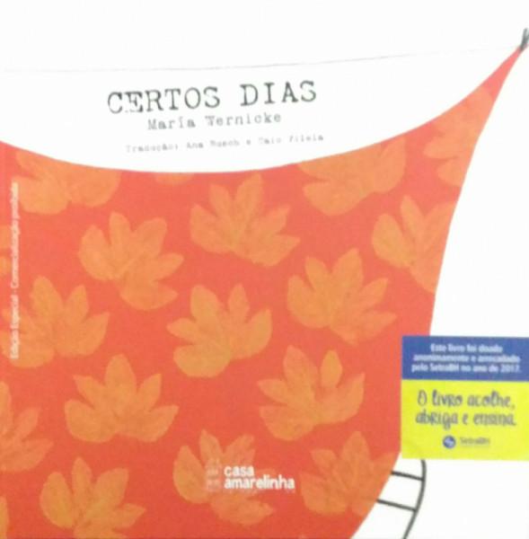 Capa de Certos dias - María Wernicke