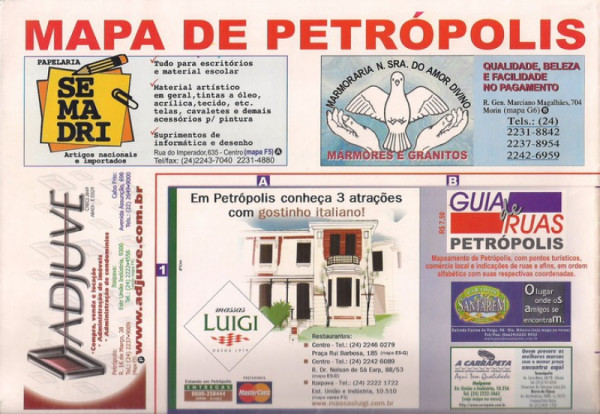 Capa de Mapa de Petrópolis mapa - Sandra Fernandes
