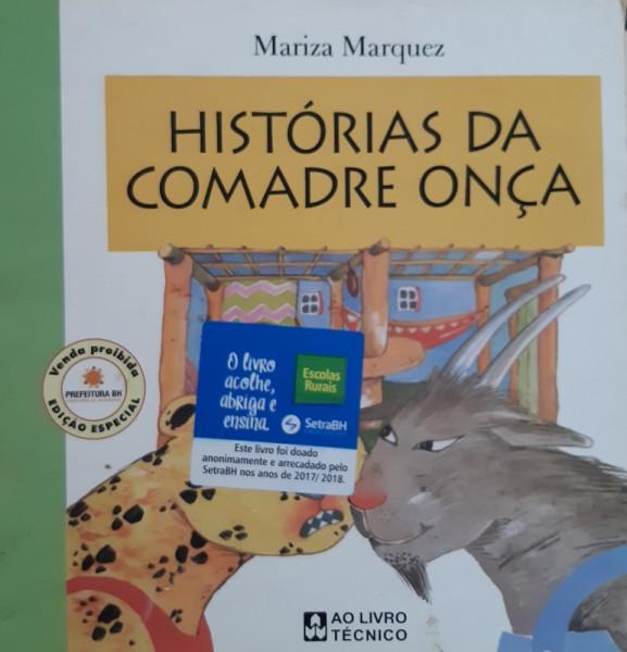 Capa de Histórias da Comadre Onça - Mariza Marquez