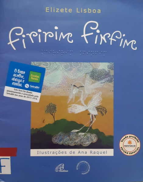 Capa de Firirim Finfim - Elizete Lisboa