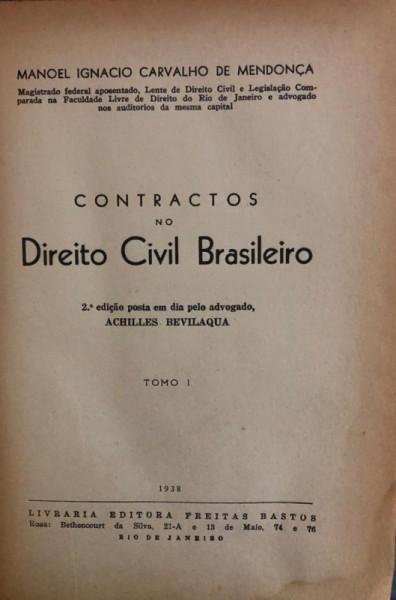 Capa de Contractos no Direito Civil Brasileiro - Manoel Ignácio Carvalho de Mendonça