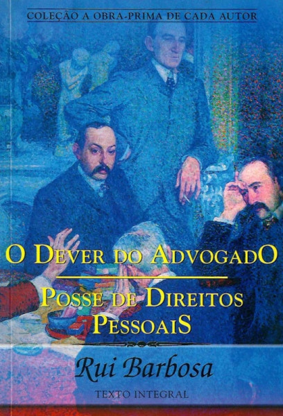 Capa de O DEVER DO ADVOGADO - Rui Barbosa