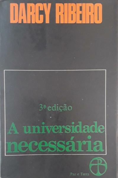Capa de A universidade necessária - Darcy Ribeiro