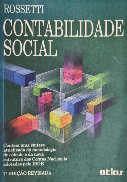Capa de Contabilidade Social - José Paschoal Rossetti
