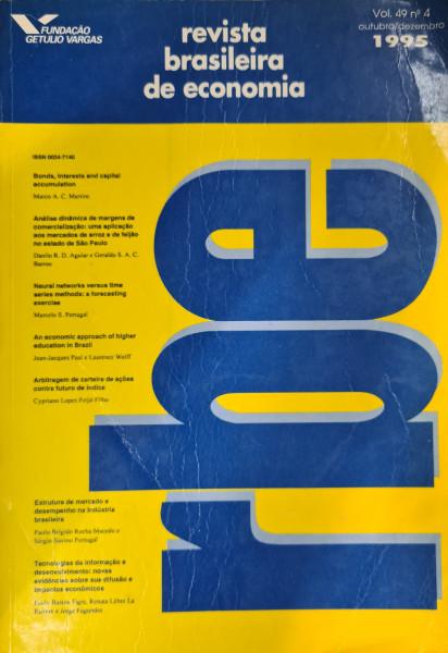 Capa de Revista brasileira de economia - Fundação Getúlio Vargas